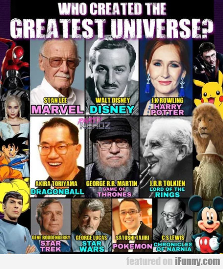 Who Created The Greatest Universe