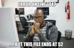 Error On Line 144 - But This File Ends At 52