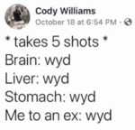 Takes 5 Shots - Brain Wyd Liver Wyd