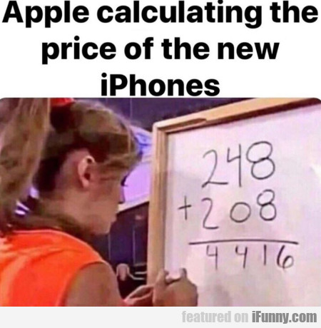 Apple calculating the price of the new iphones