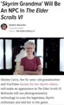 Skyrim Grandma Will Be An Npc In The Elder...