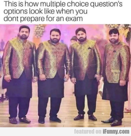 This is how multiple choice question's options...