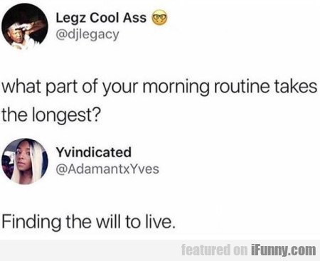 What Part Of Your Morning Routine...