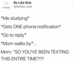 Me Studying Gets One Phone Notification...
