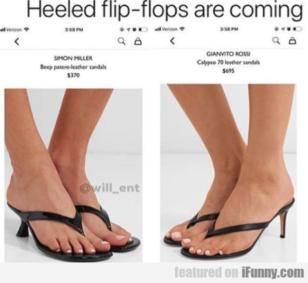 Heeled flip-flops are coming