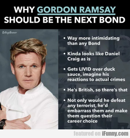 Why Gordon Ramsay Should Be The Next Bond...