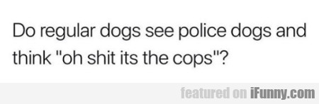 Do Regulars Dogs See Police Dogs...