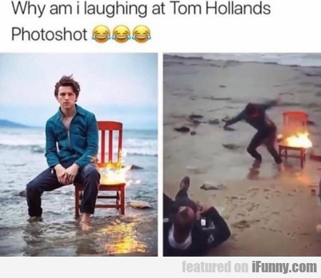 Why I am laughing at Tom Hollands Photoshot