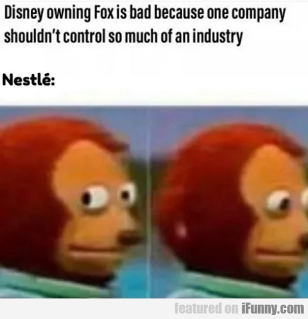 Disney Owning Fox Is Bad Because One Company
