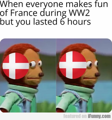 When everyone makes fun of France during WW2