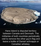Hans Island Is A Disputed Territory Between Canada
