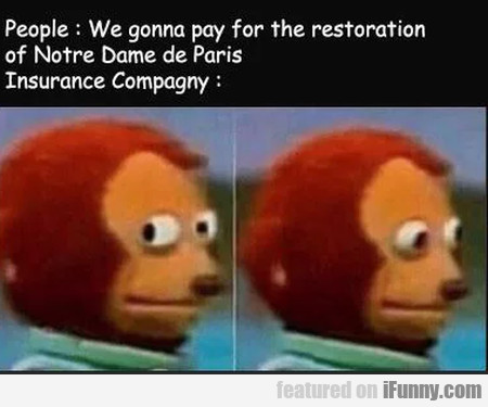 People - We Gonna Pay For The Restoration...