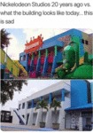 Nickelodeon Studios 20 Years Ago Vs. What...