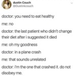 Doctor You Need To Eat Healthy Me No