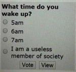 What Time Do You Wake Up - 5 Am - 6 Am...