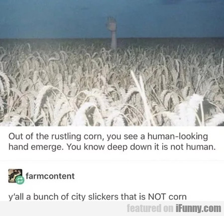 On The Rustling Corn, You See A Human...