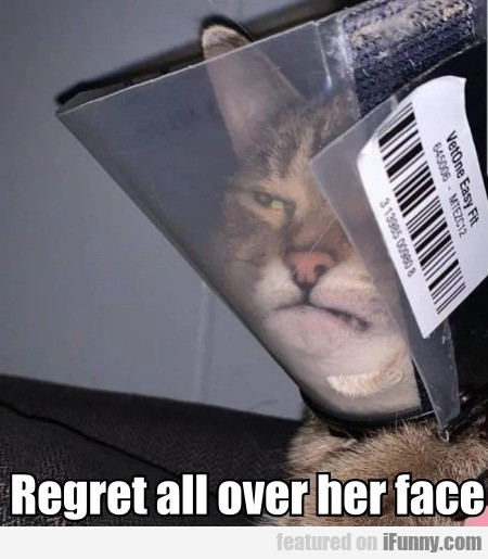 Regret All Over Her Face