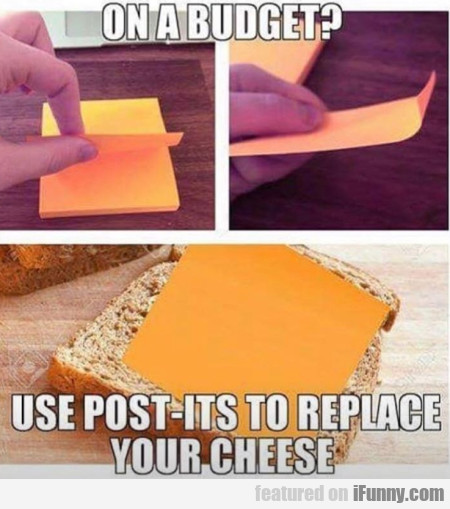 On a budget - Use post-its to replace...
