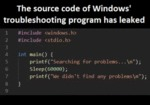 The Source Code Of Windows Troubleshooting...