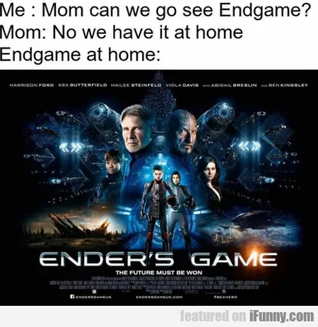 Me - Mom Can We Go See Endgame - Mom - No