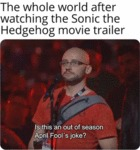 The Whole World After Watching The Sonic The...