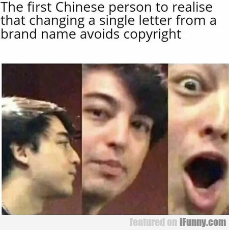 The first chinese person to realise that changing.
