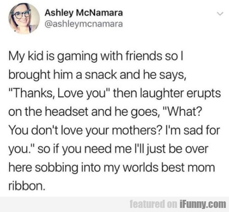 My Kid Is Gaming With Friends So I Brought Him...