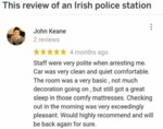 This Review Of An Irish Police Station...