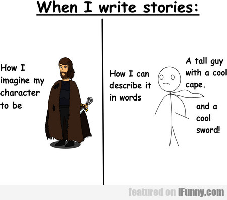 When I Write Stories... How I Imagine My Character