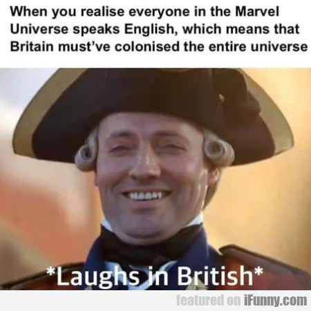 When You Realise Everyone In The Marvel Universe