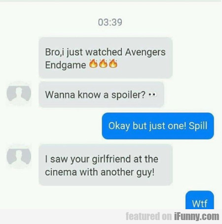 Bro, I Just Watched Avengers Endgame
