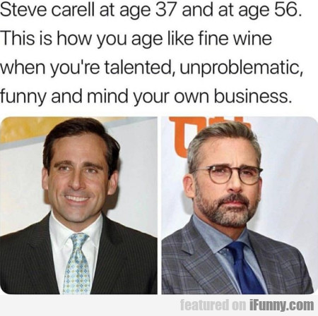 Steve Carell At Age 37 And At Age 56. This Is...
