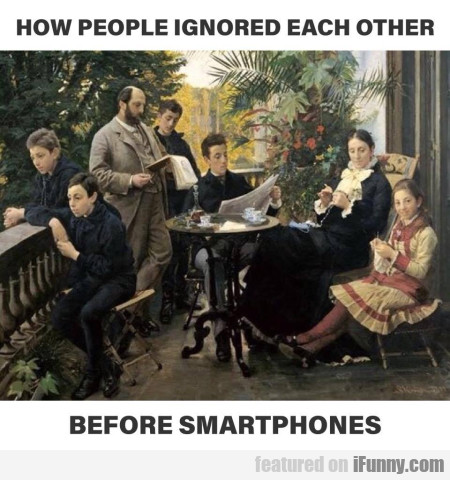 How People Ignored Eachother Before Smartphones