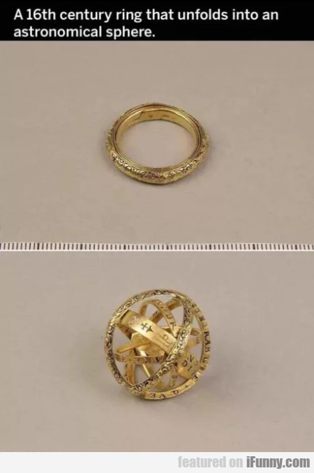 A 16th Century Ring That Unfolds Into An...
