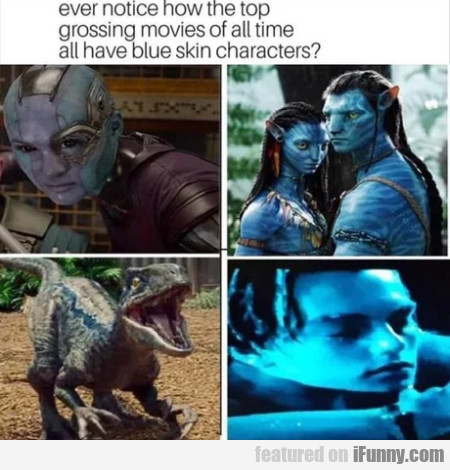 Ever noticed how the top grossing movies of all