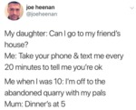 My Daughter Can I Go To My Friend's House