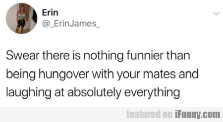 Swear There Is Nothing Funnier Than Being Hungover