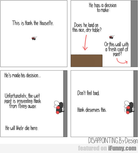 This Is Hank The Housefly. He Has A Decision To...