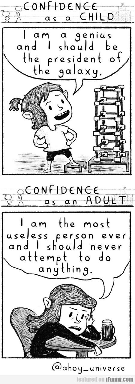 Confidence As A Child And As An Adult