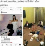 American After Parties Vs British After Parties