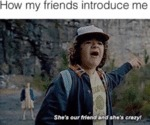 How My Friends Introduce Me - She's Our Friend...