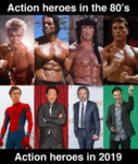 Action Heroes In The 80's - Action Heroes In 2019