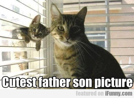 Cutest Father Son Picture