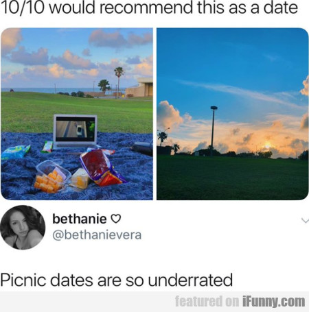 10/10 Would Recommend This As A Date - Picnic...