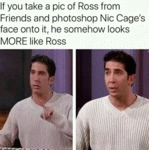 If You Take A Pic Of Ross From Friends And...