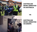 Australian Being Arrested In Australia Vs...