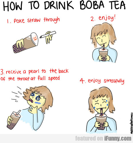 how to drink boba tea