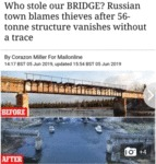 Who Stole Our Bridge - Russian Town Blames