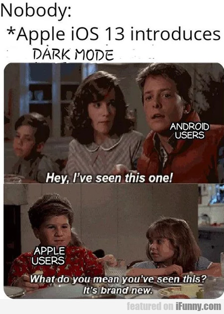 Nobody - Apple Ios 13 Introduces Dark Mode