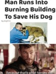 Man Runs Into Burning Building To Save His Dog